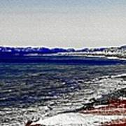 Icy Cold Seascape Digital Painting Art Print