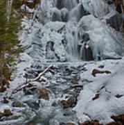 Icy Flow Of Water Art Print