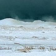 Icy Lake Michigan Art Print