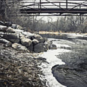 Icy River Art Print