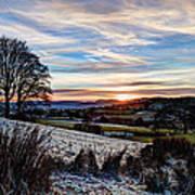 Icy Sunset Art Print