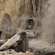 Icy Waterfall Art Print
