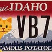 Idaho License Plate Art Print