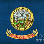 Idaho State Flag Art Print by Pixel Chimp