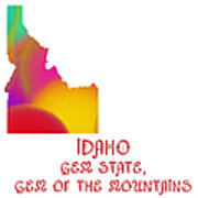 Idaho State Map Collection 2 Art Print