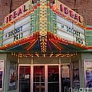 Ideal Theater In Clare Michigan Art Print