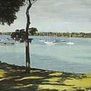 Idle Boats On White Rock Lake Art Print