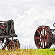 Idle Fordson Tractor On The Hill Art Print