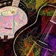 If Not For Color Digital Banjo And Guitar Art By Steven Langston Art Print by Steven Lebron Langston