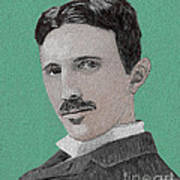 If You Could Read My Mind...tesla Art Print