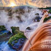 Iguazu Sunrise Art Print