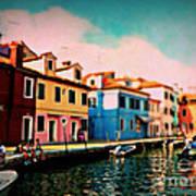 Il Colorato Villaggio Art Print
