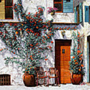 Il Cortile Bianco Art Print by Guido Borelli