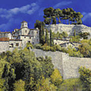 Il Villaggio In Blu Art Print