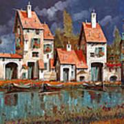 Il Villaggio Sul Lago Art Print