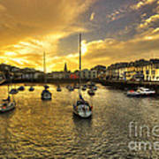 Ilfracombe Harbour At Dusk  Art Print