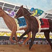 I'll Have Another Wins Preakness Art Print by Glenn Stallings