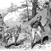 Illegal Prospecting, 1879 Art Print