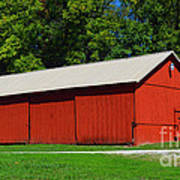 Illinois Red Barn Art Print