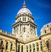 Illinois State Capitol In Springfield Illinois Art Print