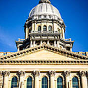 Illinois State Capitol In Springfield Art Print