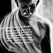 Illuminated Gandhi Art Print by Naresh Sukhu