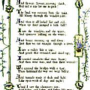 Illuminated Poem 1903 Art Print