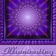 Illuminating Violet Art Print