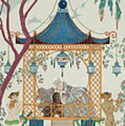 Illustration For 'fetes Galantes' Art Print