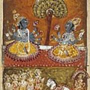 Illustration Of The Bhagavata Purana Art Print