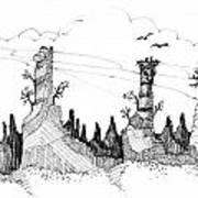Imagination 1993 - Eagles Over Desert Rocks Art Print