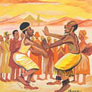 Imbiyino Dance From Rwanda Art Print