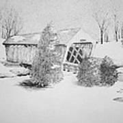 Imes Snow Bridge Art Print
