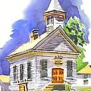 Immanuel Evangelical Lutheran Church Pilot Knob Missouri Art Print