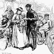 Immigrant Inspection, 1883 Art Print