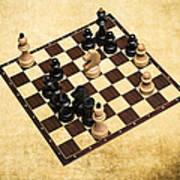 Immortal Chess - Byrne Vs Fischer 1956 Art Print