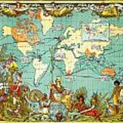 Imperial federation map of the world showing the extent of the imperial federation map of the world showing the extent of the british empire in 1886 poster gumiabroncs Choice Image