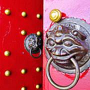 Imperial Lion Door Knocker Art Print by William Voon