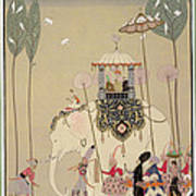 Imperial Procession Art Print by Georges Barbier