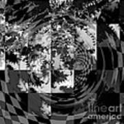 Impossible Reflections B/w Art Print