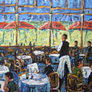 Impresionnist Cafe By Prankearts Art Print