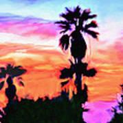 Impression Desert Sunset V2 Art Print