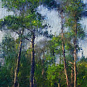 Impression Trees Art Print