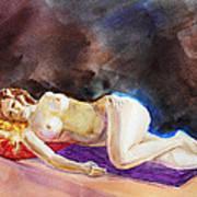 Impressionism Of Reclining Nude Art Print