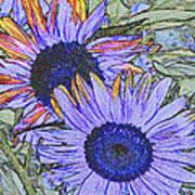 Impressionism Sunflowers Art Print