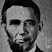 Impressionist Interpretation Of Lincoln Becoming Obama Art Print by Doc Braham