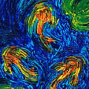 Impressionist Koi Fish By Sharon Cummings Art Print