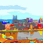 Impressionist Pittsburgh Across The River 2 Art Print