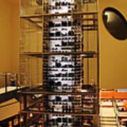 Impressive Wine Rack Art Print
