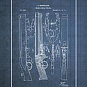 Improvement To Muzzle-loading Fire-arm - Vintage Patent Blueprint Art Print